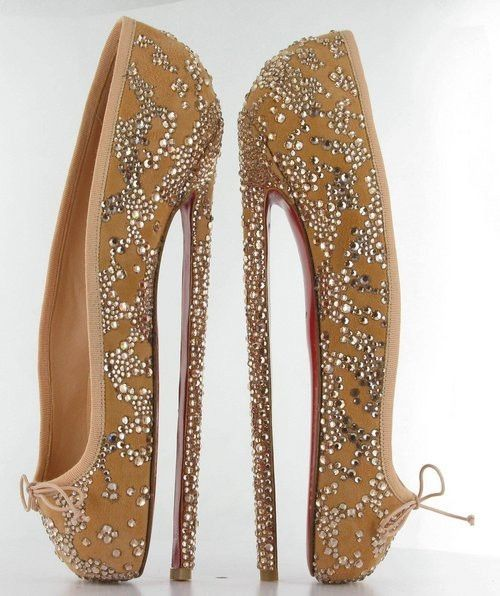 "Louboutin's super-high 8"" heels --- absolutely insane 