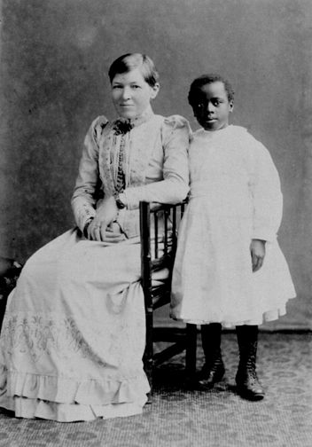 Scottish missionary Mary Slessor and her adopted Nigerian daughter Atim Eso, aka Janie Annan Slessor, visited  Topsham, Devon, in 1885 and 1891.  Mary Slessor (2 December 1848 – 13 January 1915) was a Scottish, United Presbyterian missionary who went to work in what is now known as Nigeria, in the nineteenth century, with the Calabar Mission.: