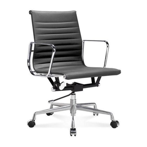 Inspiration Eames Alu Ea117 Chaise Bureau En Cuir Meubles Concept Chaise Bureau Fauteuil Bureau Design Eames