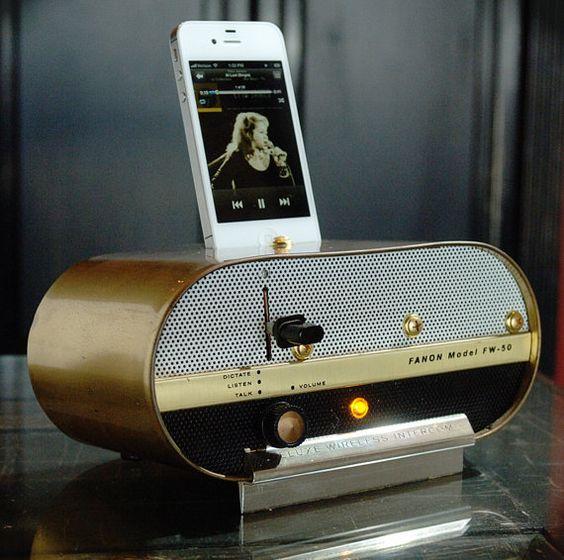 ipod dock vintage inspired and be cool on pinterest. Black Bedroom Furniture Sets. Home Design Ideas