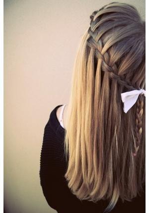 Trança cascata - passo a passo: Haircolor, Hairstyle, Hair Style, Hair Color