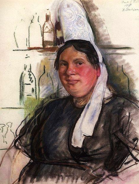 Zinaida Serebriakova, Hostess Bistro Mon Abbe
