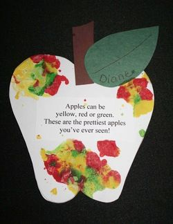 """Apple activities: FREE Apple craft.  This is a melted crayon apple. Quick, easy & fun with a """"Wow!"""" factor.  Peeling & sharpening broken crayons, is a super-fun way to strengthen those finger muscles."""