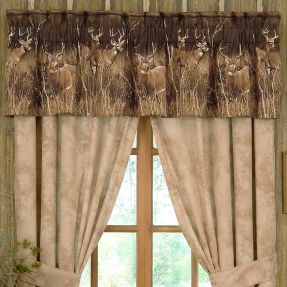 image detail for rustic curtains cabin window treatments lodge valances cabin pinterest. Black Bedroom Furniture Sets. Home Design Ideas