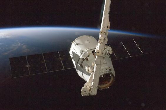 SpaceX tweeted:  1 yr ago today, SpaceX began officially resupplying the space station. Glad to see #Dragon becoming a frequent flyer. #spacecraft #Dragon