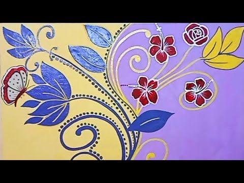طريقه رسم استنسل على الحائط خطوه بخطوه تعليم رسم الثري دي Tapestry Home Decor Decor