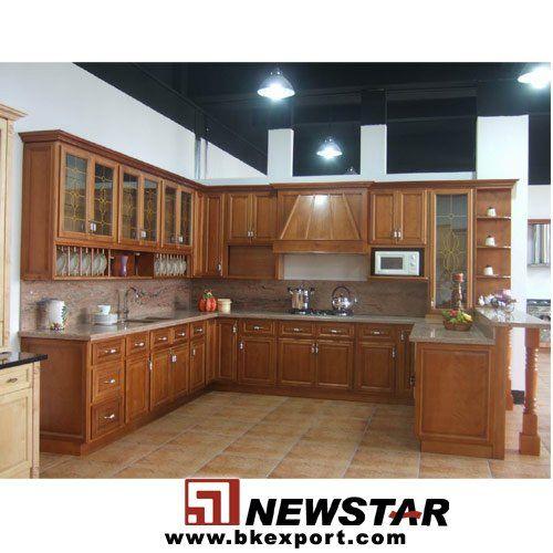 Gabinetes de cocina cereza de madera gabinete de la - Cocinas con granito ...