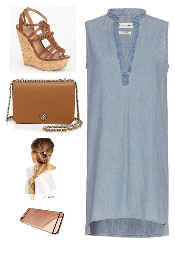 """Untitled #2526"" by twerkinonmaz ❤ liked on Polyvore featuring rag & bone, Delicious, Tory Burch and Johnny Loves Rosie"
