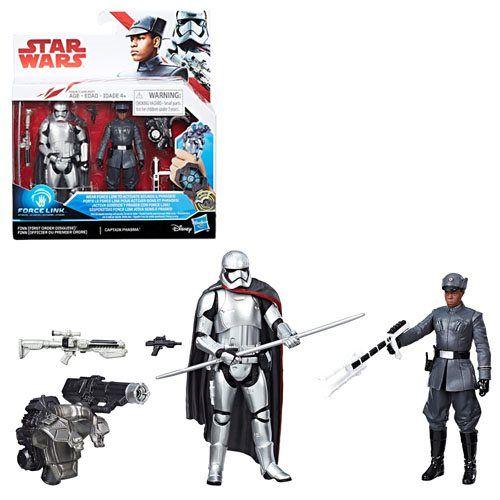 Star Wars The Last Jedi Finn First Order Disguise Vs Captain Phasma 3 3 4 Inch Figures Exclusive Last Jedi Star Wars Jedi