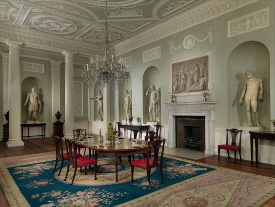 Robert adam dining room amputated from lansdowne house for Dining room at the met
