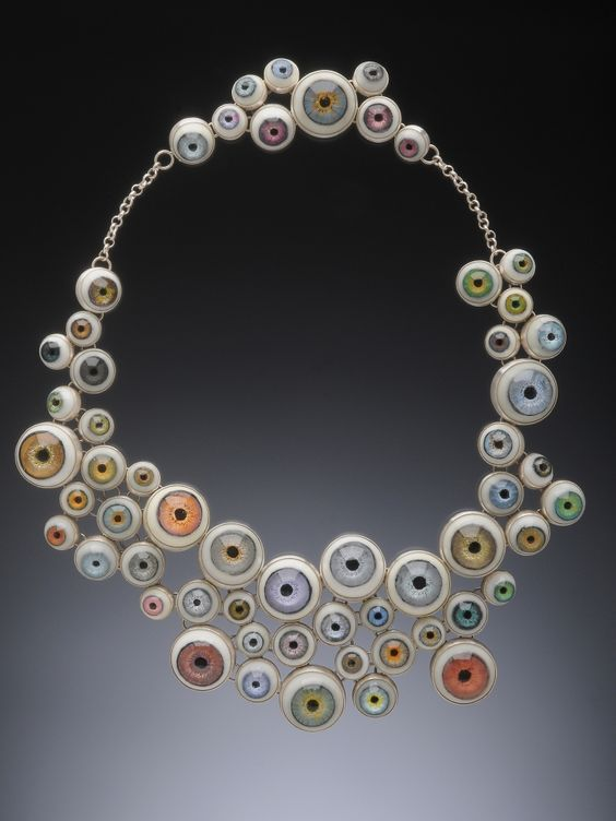 YURI TOZUKA NECKLACE  Sterling silver, polyester resin, acrylic paint, polyurethane resin, lacquer