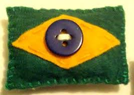Resultado de imagem para bandeira do brasil de feltro chaveiro