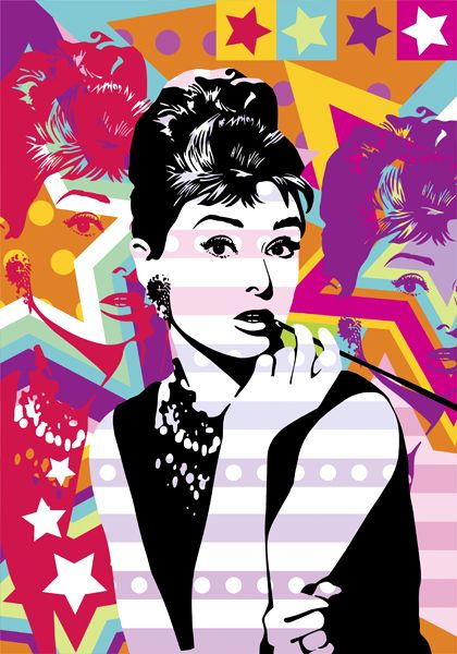 breakfast at tiffany 39 s audrey hepburn lobo pop art. Black Bedroom Furniture Sets. Home Design Ideas