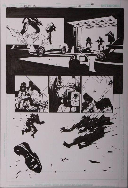 100 Bullets #56 page13  Comic Art