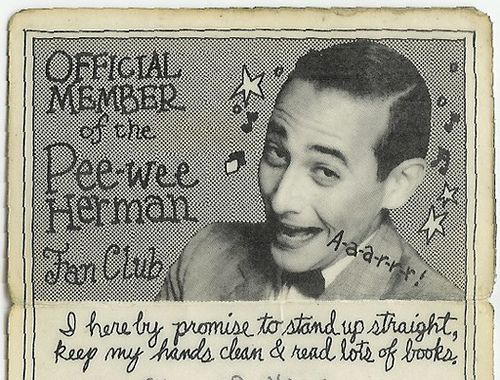 club fan wee pee herman