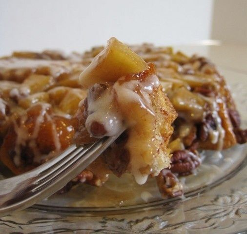 Cinnamon Apple Upside Down Coffee Cake. Melts in your mouth!