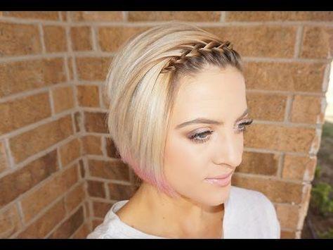 Waterfall Braided Bangs Short Hair Tutorial Youtube Short Hair Tutorial Short Hair With Bangs Braided Bangs Tutorial