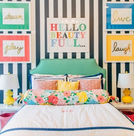 pbteen spotted print and bedding!