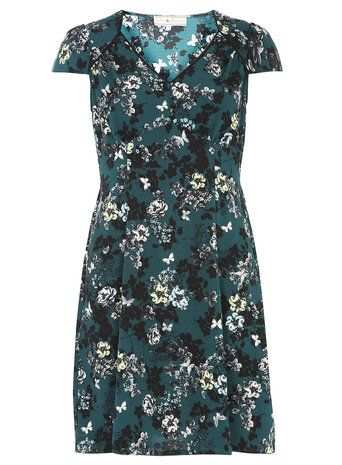 Billie and Blossom Green Floral Print Dress