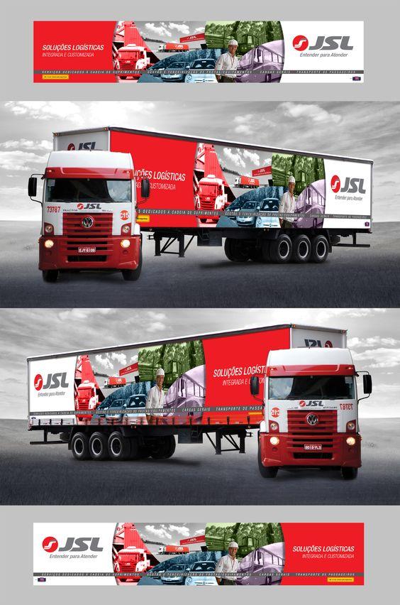 Sider caminhão para feira Intermodal / JSL
