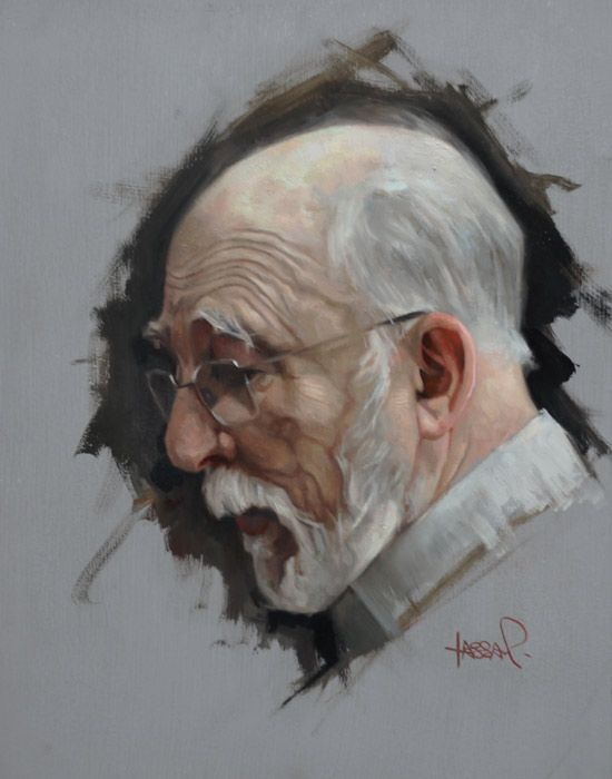 "Gallery Henoch - David Kassan, Max, Oil on Aluminum, 10"" x 8"":"