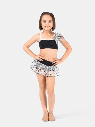 Free Shipping - Girls Skort With Overlay by BODY WRAPPERS $23.65 skort only