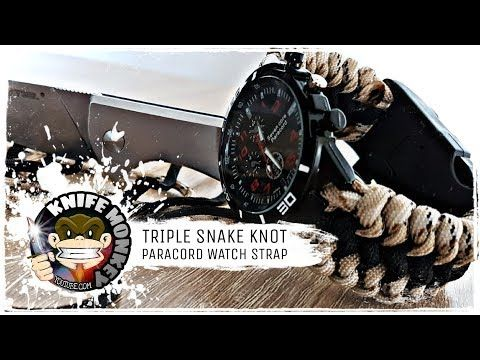 Triple Snake Knot Paracord Watch Strap Band Tutorial Youtube