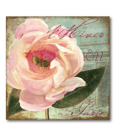 Take a look at this Paris Pink Flower 2 Wall Art by COURTSIDE MARKET on #zulily today!