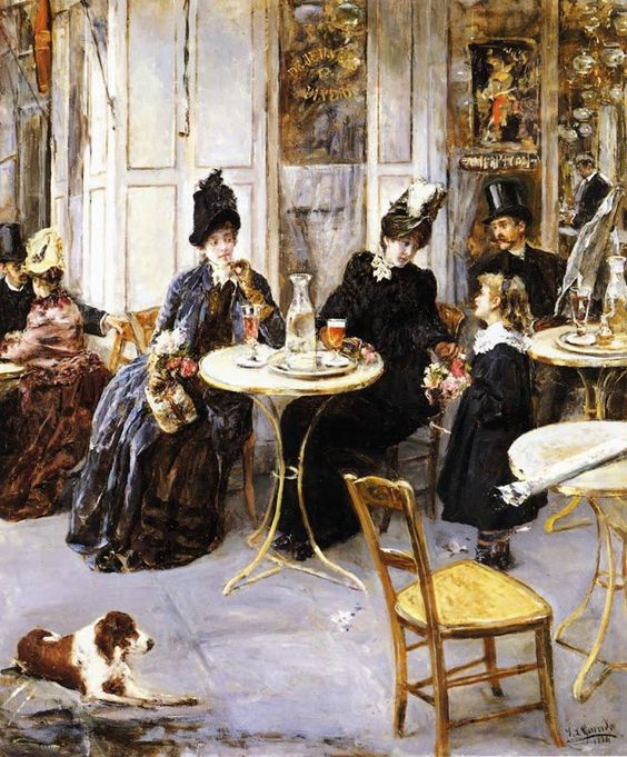 A Parisian Café. 1886, by Eduardo León Garrido (Spanish, 1856–1949)