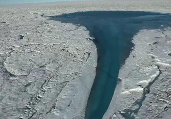 Drone captura imagens impressionantes dos efeitos do aquecimento global