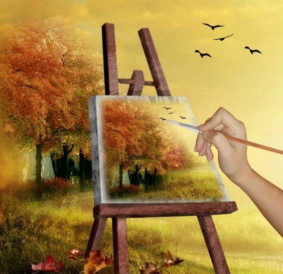 """Стихотворение """"Ты Рисуешь Осень Золотую"""""""