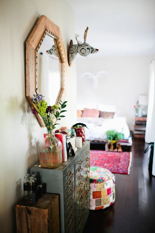 Eclectic boho home space