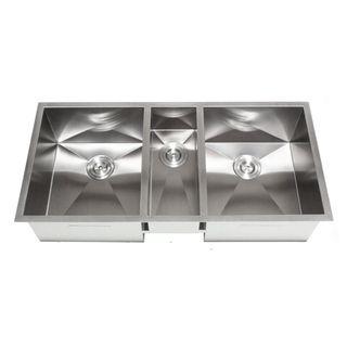 42 inch triple bowl undermount zero radius kitchen sink - Undermount 3 compartment kitchen sinks ...