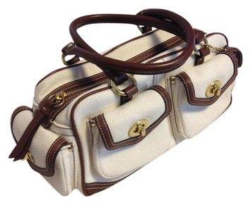 Coach Unique Brown Canvas Shoulder Bag