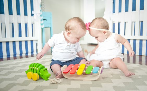 Ideas for Boy/Girl Twins Nursery!