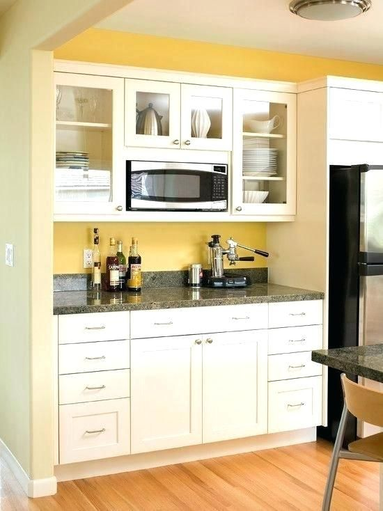 Above Stove Microwave Cabinet Installing Over The Range Microwave Eat Well Cabinet Cabin Built In Microwave Cabinet Kitchen Cabinet Styles Contemporary Kitchen