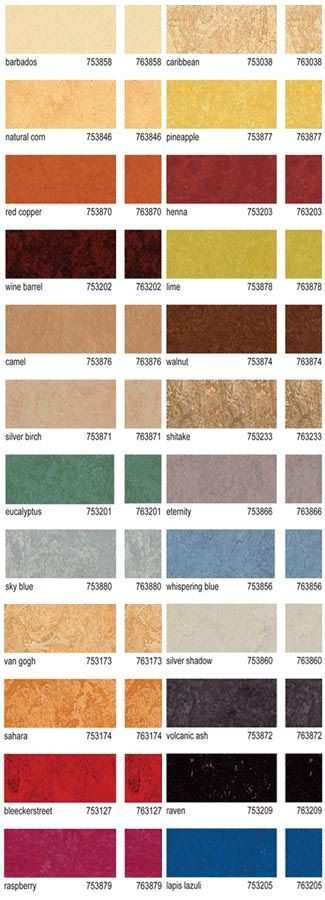 Forbo marmoleum click 2 tile 12 x 12 vinyl flooring for Linoleum flooring colors