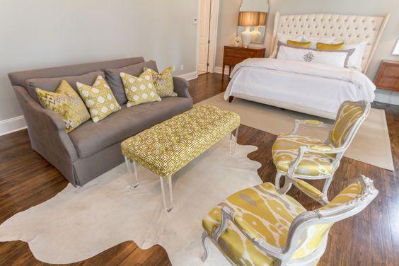Sitting Area in Bedroom - Garden District Renovation