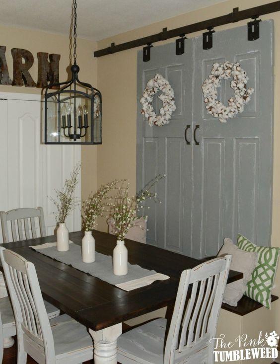 Window treatments window and doors on pinterest for Barn door window covering