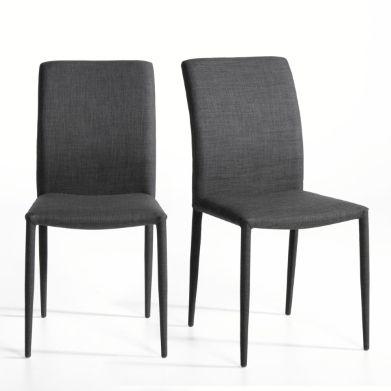 chaise tissu lot de 2 bitume am pm d coration appartement pinterest. Black Bedroom Furniture Sets. Home Design Ideas