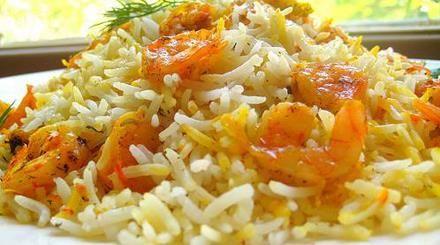 الجمبري مع الأرز بالزعفران - نصف الدنيا
