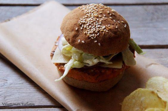 Viljattoman Vallaton: Gluteenittomat hampurilaissämpylät