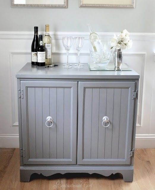 Refurbished furniture - classy drink display without looking obsessed with alcohol!