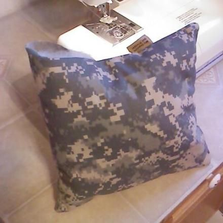 OPERATION POCKET FIELD PILLOW - A group of volunteers in my community began Operation Pocket Field Pillow in February 2009, when my son deployed to Afghanistan. To date, we've made and shipped over 10,000 ACU pocket field pillows to our combat troops and over 2,000 fleece travel pillows to our wounded.
