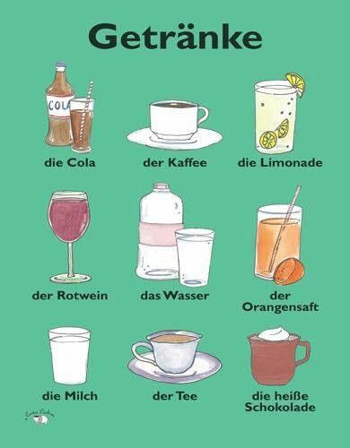 Getränke für Deutsch 2 listen voc. food. http://www.deutschakademie.de/online-deutschkurs/audio-course/German-audio-course-3