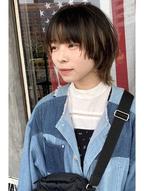 Free 担当山本 マッシュウルフ L048617052 フリー ヘアー アトリエ Free Hair Atelier のヘアカタログ ホットペッパービューティー 中性的 髪型 ヘアスタイル 毛髪染料