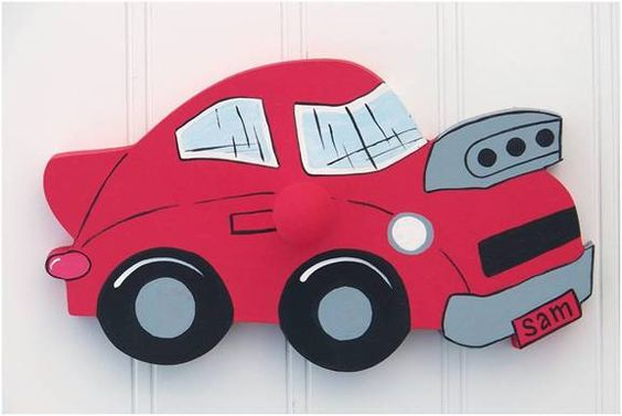 Hit The Road Race Car Wall Peg or Decor Piece Without Peg
