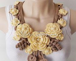 Ожерелье Мисс цветок - желтый