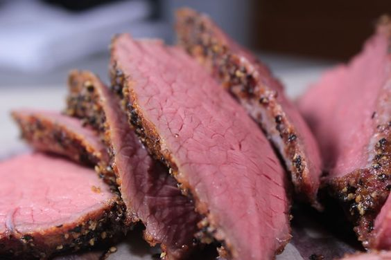 The really awesome thing about smoked tri-tip is that it yields a medium rare that is edge to edge instead of the typical pink in the center only.