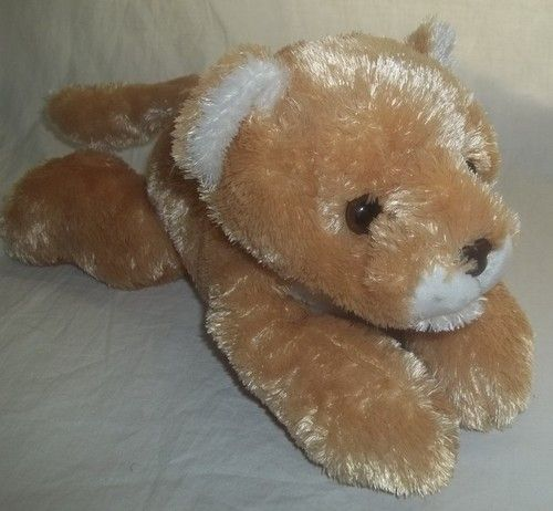 "Aurora Lioness Leona Lion Cat Stuffed Animal Plush Soft 12"" Long Toy 